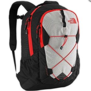 The North Face Jester Backpack (TNFBlackFieryRed)